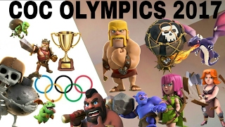 COC olympics 2017 india|All insane troops race|must watch video|clash fighters-clash of clans