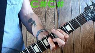 JESUS OF SUBURBIA GUITAR LESSON ON SCREEN NOTES ♫ cords lyrics