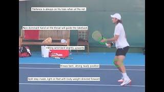 Stefanos Tsitsipas Volley Analysis Slow Motion Tennis