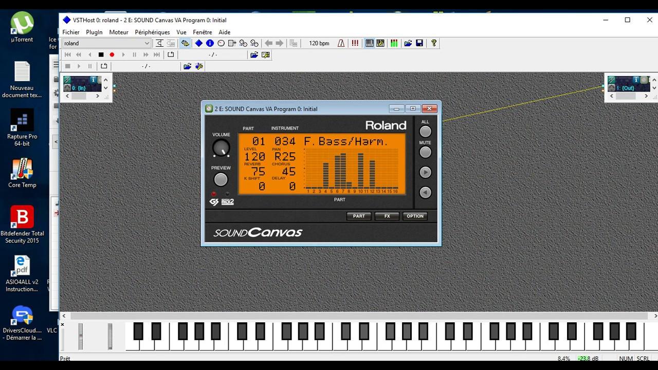 Roland Sound Canvas Module Bass demo song