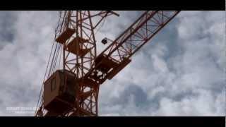 Башенный кран(Работа самого высокого на данный момент башенного крана в Тюмени. Стройка в квадрате улиц Широтная-Пермяко..., 2012-10-16T08:55:40.000Z)