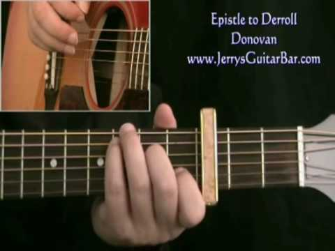 How To Play Donovan Epistle to Derroll (intro only) - YouTube