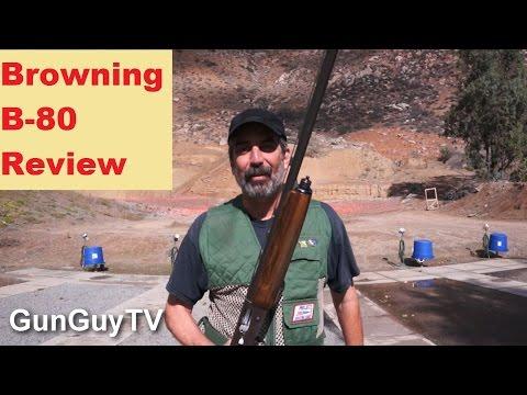 Shooting the Browning B 80 12 gauge shotgun