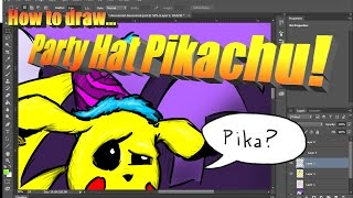 How to Draw Party Pikachu in a Fun Party Hat!