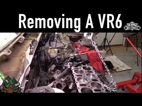 How To Remove a VR6 Engine ~ White Wookie