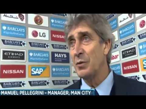 Manuel Pellegrini's post match interview after Man City 4-1 Sunderland