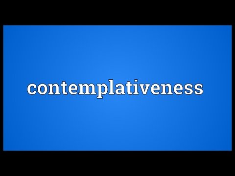 Header of contemplativeness