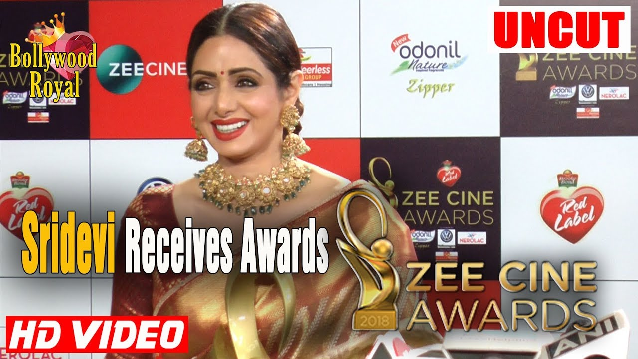 Sridevi Receives Best Female Actor Zee Cine Awards 2018