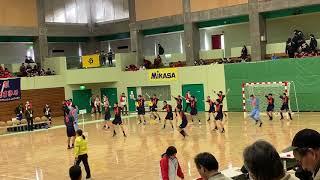[ハンドボール]法政二高試合前の威嚇 高校選抜ver.