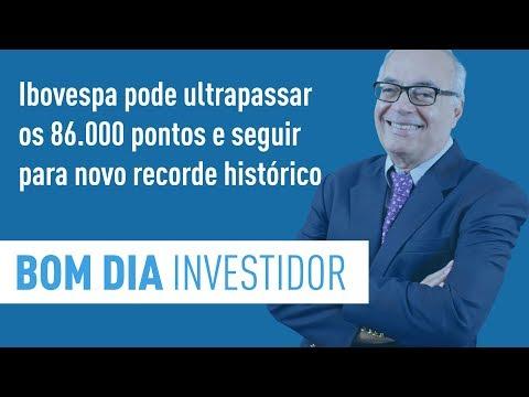 Ibovespa pode ultrapassar os 86.000 pontos e seguir para novo recorde histórico
