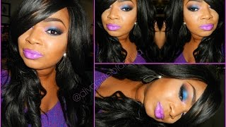 MAKEUP TUTORIAL | Pink & Cobalt Blue Eyes!!! Feat. Too Faced Melted Violet Thumbnail