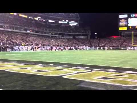 On the field at the Music City Bowl