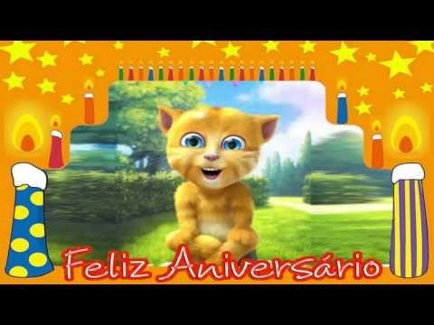 Video Mensagem de Aniversário Gatinho te Desejar um Feliz Aniversário.
