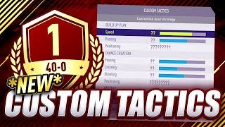 GORILLA'S 40-0 CUSTOM TACTICS & PLAYER INSTRUCTIONS | FUT CHAMPIONS TOP 100 | FIFA 18 ULTIMATE TEAM