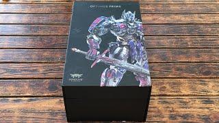 Transformers Age Of Extinction Comicave Studios Optimus Prime 1/22 Unboxing