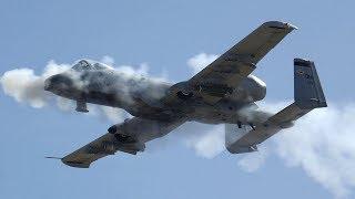 The Fairchild Republic A-10 Thunderbolt II is a single seat, twin-e...