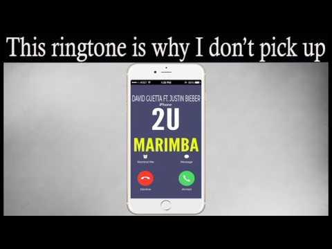 Latest IPhone Ringtone - 2 U Marimba Remix Ringtone - David Guetta Feat. Justin Bieber