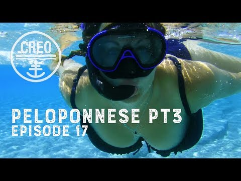 Is this the best beach in the Greek Islands? -  Ep17 Sailing CREO Peloponnese Adventures Pt3