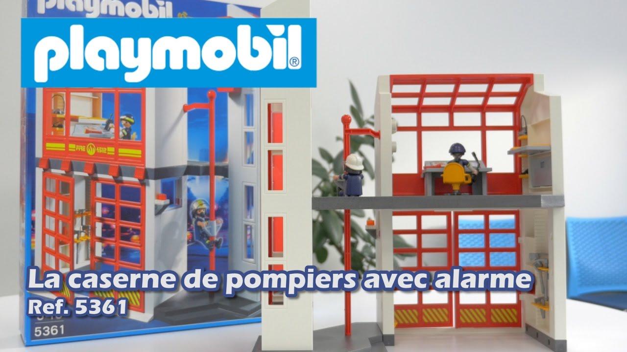 Playmobil 5361 La Caserne De Pompier Avec Alarme City Action