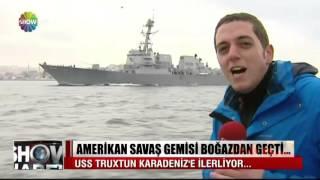 Amerikan savaş gemisi boğazdan geçti