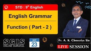 SGIS | STD 9 English | Grammar : Pictur Description | ft. A.K.Chovatiya Sir| LS459