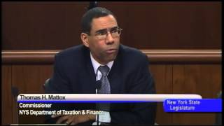 Senator Malcolm Smith Questions Thomas Mattox of the NYS Department of Taxation & Finance