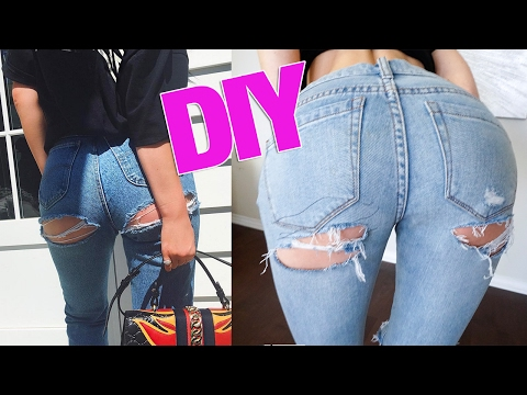 DIY Kylie Jenner Butt Ripped Jeans thumbnail