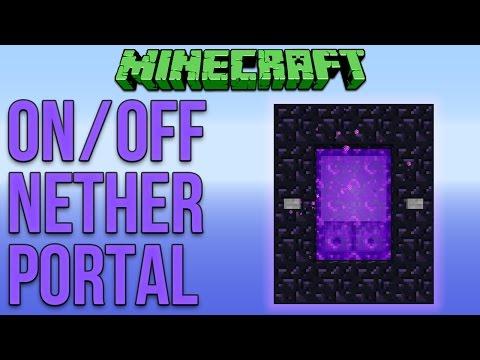 Minecraft 1.11: On Off Nether Portal Tutorial
