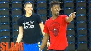 Jimmy Butler GOES 1 ON 1 with Henry Ellenson - 2016 NBA Draft Lottery Pick - 16NBACLH(Jimmy Butler and Henry Ellenson went 1 on 1 after Ellenson's 2016 NBA Draft Workout. Henry came out of the gate strong, but Jimmy showed why he is ..., 2016-06-11T17:01:53.000Z)