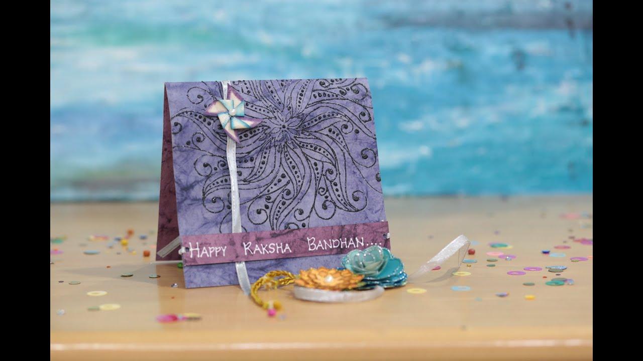 Card Making Ideas For Raksha Bandhan Part - 21: Raksha Bandhan Greeting Card - DIY - YouTube