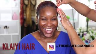 CLIENT HAIR AND MAKEUP TRANSFORMATION  VLOG USING KLAIYI HAIR