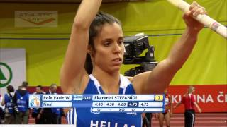 Stefanidi Katerina 4.60 -  4.75 - European Indoor Championships Prague 2015