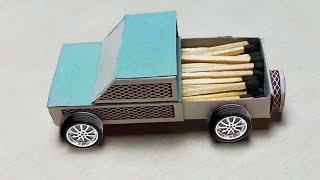 How to Make matchbox car ,truck, jcb.माचिस से कार toy ट्रक, टाटा car बनाओ