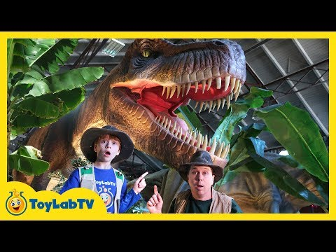 Giant Dinosaurs at Jurassic Quest Dinosaur Event for Kids with Little T-Rex Surprise Visit