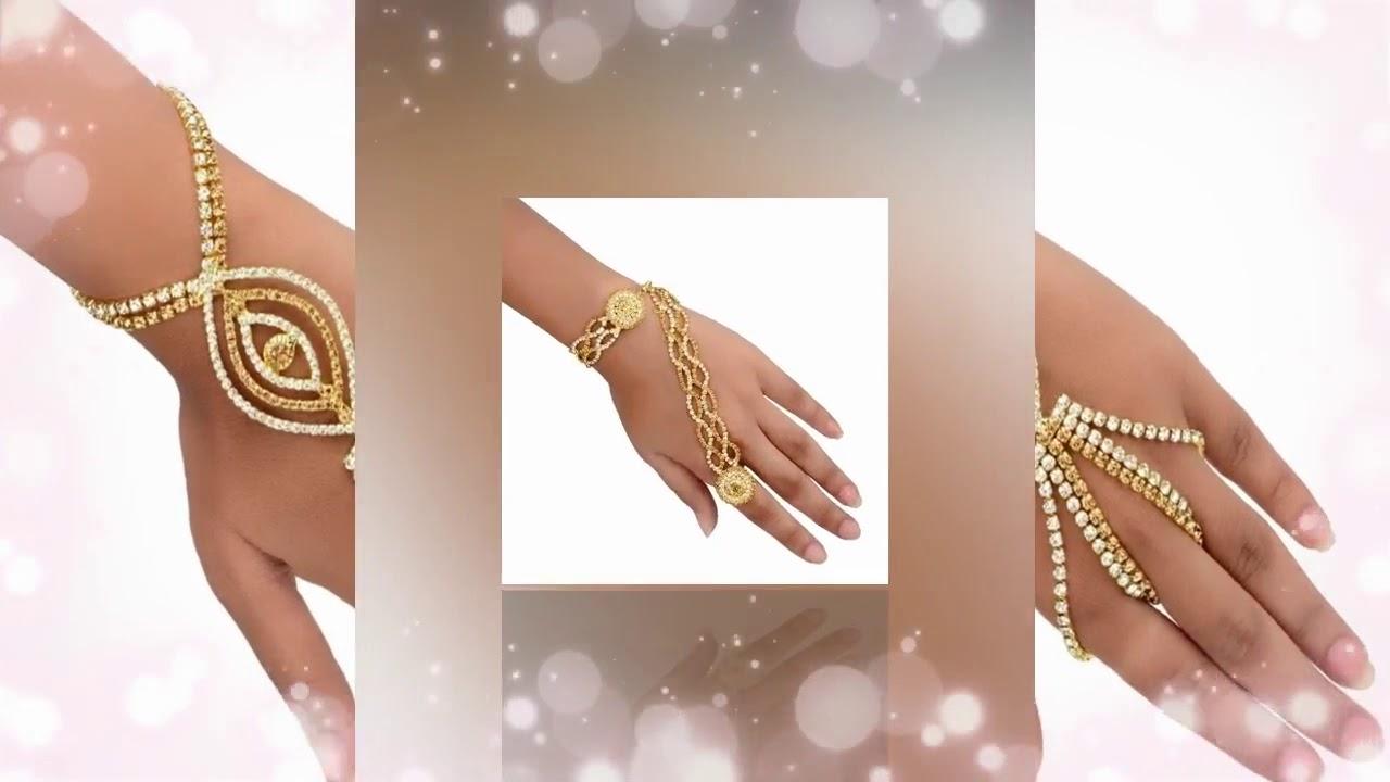 Latest Design Party Wear Hathful Bracelet for women/girls ...