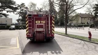 Départ incendie sapeurs-pompiers de Lancy