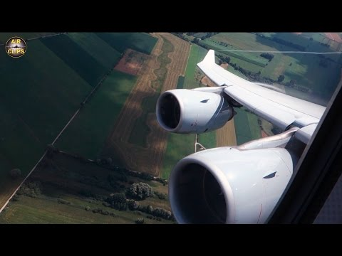 HEAVY Lufthansa A340-600 - SCENIC takeoff from Munich to Denver! [AirClips]