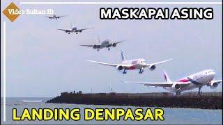 Maskapai Asing Landing Berurutan Di Bandara I Gusti Ngurah Rai Denpasar Bali