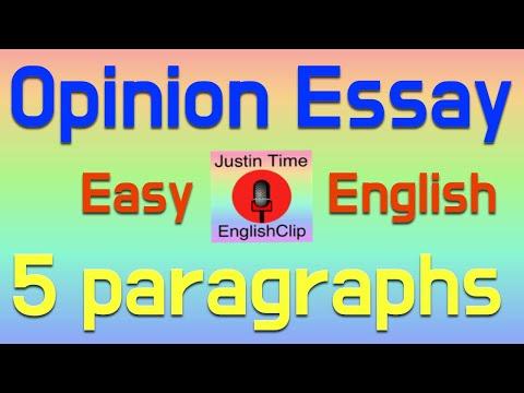 Write An Opinion Essay - Easy Writing Steps - Example Teach EFL ESL Color Code