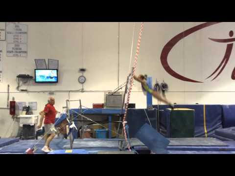 Abby Johnston Bars Workout 11/6/14