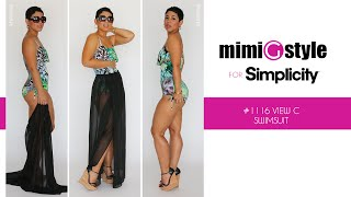 How to Sew the Mimi G Style for Simplicity, Pattern 1116 Tutorial. View C, Swimsuit.
