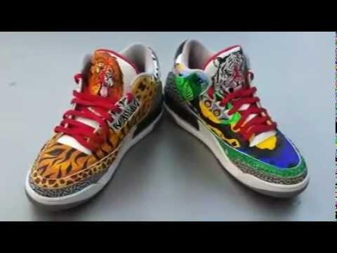 Air Jordan 3 custom Safari vs