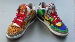 Air Jordan 3 custom Safari vs. Rainforest