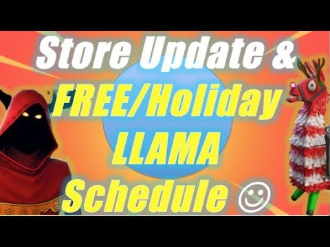Event Store Update & Holiday/Free Llama Schedule / Fortnite Save the World
