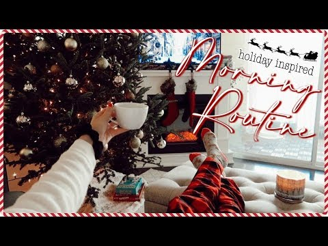 Holiday MORNING ROUTINE | coziest thing you'll see all day