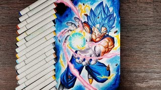 Drawing Vegito Super Saiyan Blue Final Kamehameha