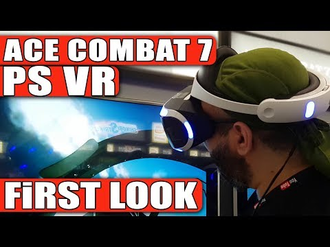 Ace Combat 7 VR (Virtual Reality - PSVR) Demonstration | Gamescom 2017