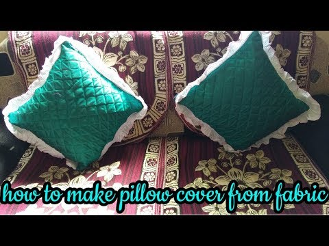 how to make pillow cover from fabric at home-hindi sewing tutorial