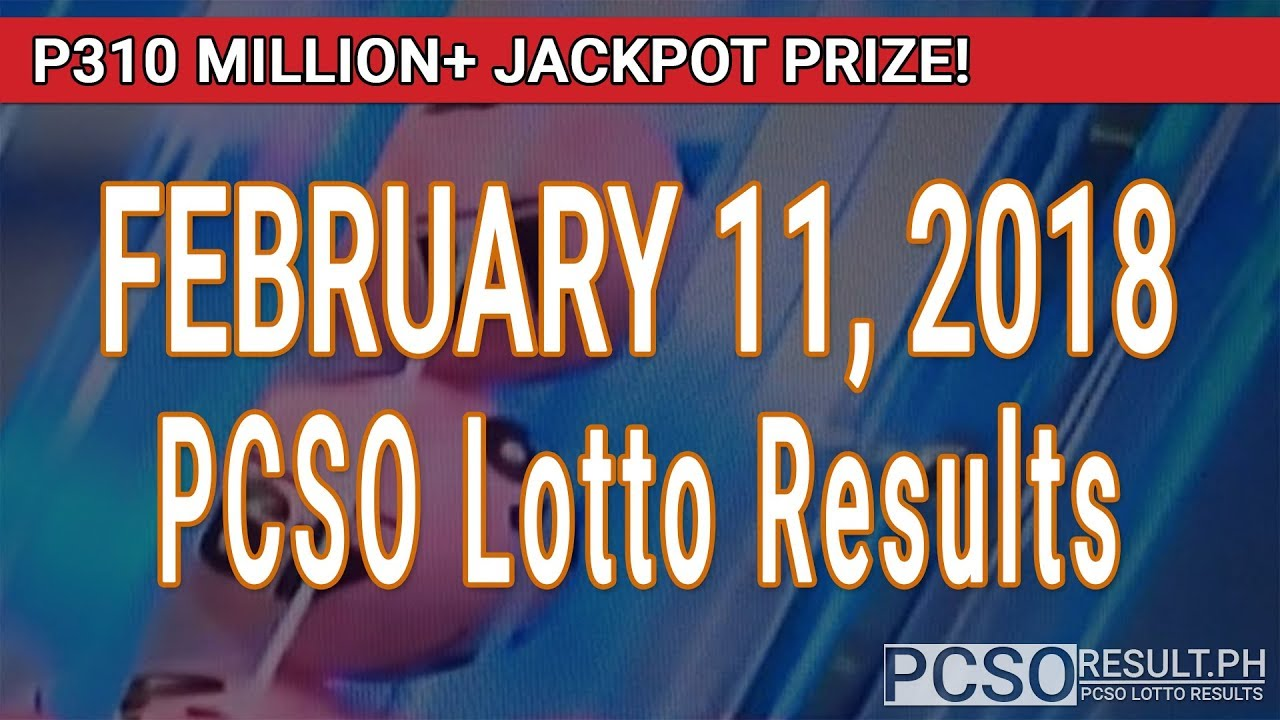 PCSO Lotto Results Today February 11, 2018 (6/58, 6/49 ...