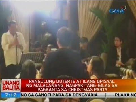 UB: PDu30 at ilang opisyal ng Malacañang, nagpakitang-gilas sa pagkanta sa Christmas party